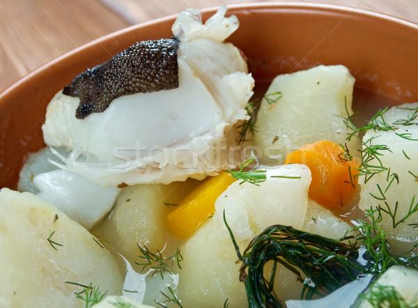 Pörkölt krumpli friss északi gomb Skócia Stock fotó © fanfo