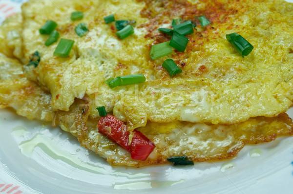 Masala Omelette Stock photo © fanfo