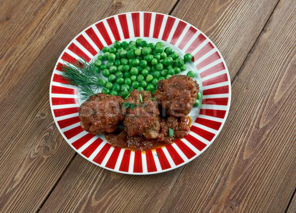 традиционный блюдо свиней сердце печень жирный Сток-фото © fanfo