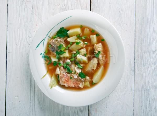 Stock photo: fish soup Aljotta