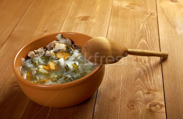 Orosz káposzta leves zöld otthon hús Stock fotó © fanfo