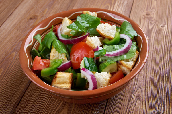 Toscano salada pão tomates comida fruto Foto stock © fanfo