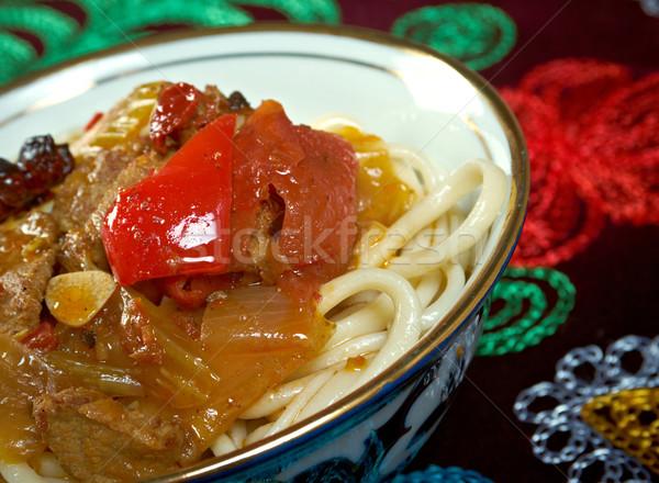 oriental uzbek soup lagman  Stock photo © fanfo