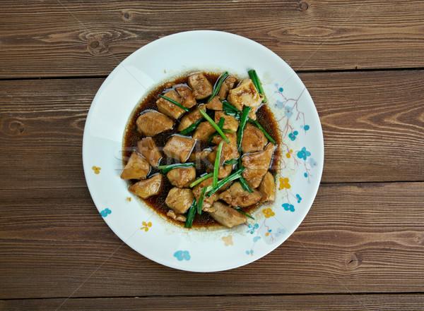 鶏 アメリカン スタイル 中国食品 フライド ストックフォト © fanfo