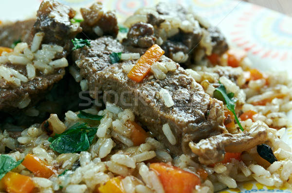 Mutton pulao Stock photo © fanfo