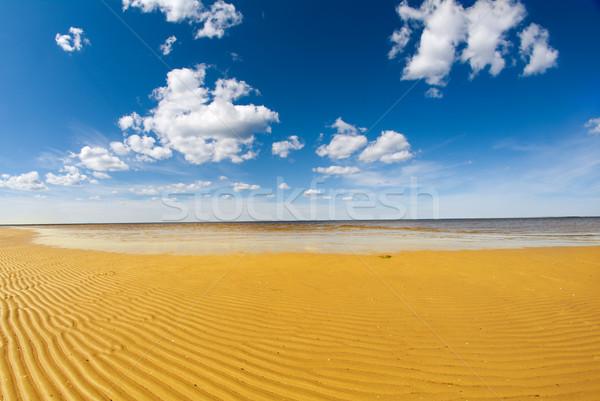 Costa branco mar impressionante céu praia Foto stock © fanfo