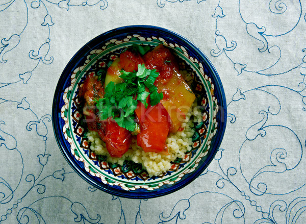 Mediterraneo verdura couscous alimentare legno grano Foto d'archivio © fanfo