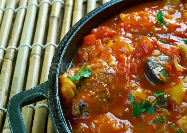 Türk sebze köfte mevsimlik domates Hint Stok fotoğraf © fanfo