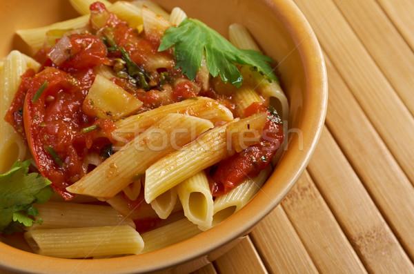penne rigata with marinara sauce Stock photo © fanfo