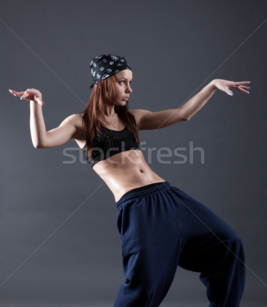 ストックフォト: 女性 · モダンなスタイル · グレー · スポーツ · 美