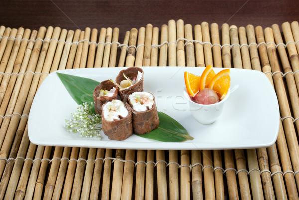 ストックフォト: デザート · マキ · 寿司 · チョコレート · ロール