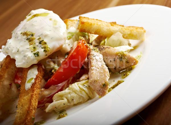 焼き鳥 フィレット 地中海 サラダ ディナー プレート ストックフォト © fanfo