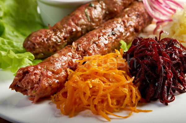caucasian Luleh kebab Stock photo © fanfo