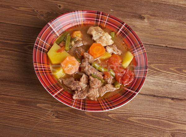 Güveç Wisconsin yemek et taze yemek Stok fotoğraf © fanfo