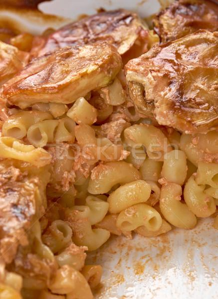 Könyök makaróni süt cukkini tészta étel Stock fotó © fanfo