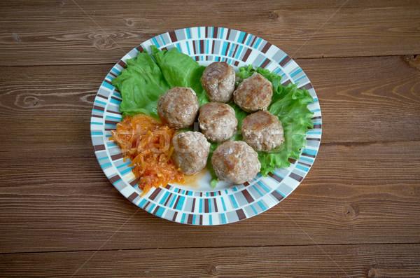 ミートボール トルコ語 緑 肉 ストックフォト © fanfo