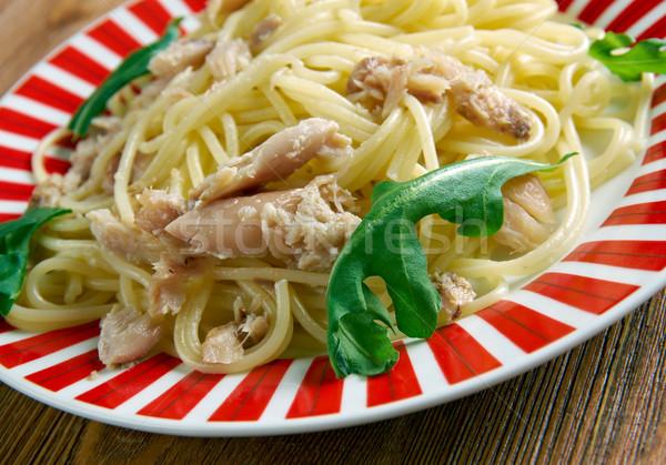 spaghetti con baccala Stock photo © fanfo