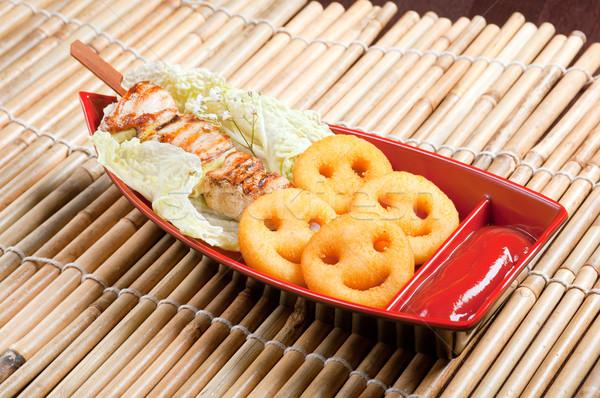 Japanese  baby skewered chicken Stock photo © fanfo
