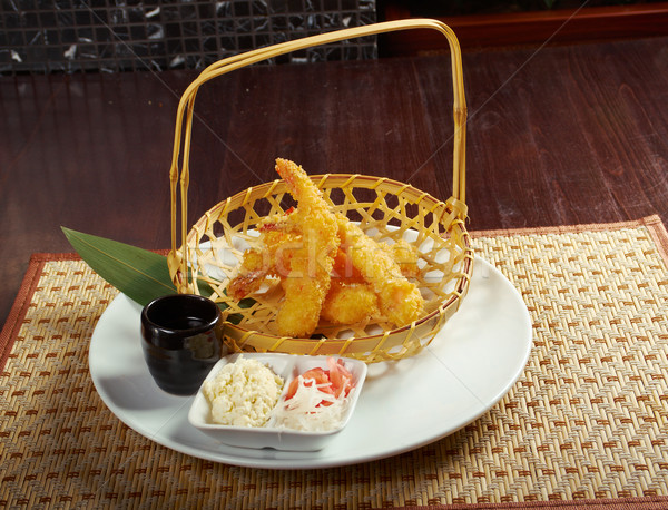 prawn Ebi tempura bowl Stock photo © fanfo