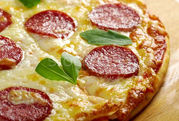 Maison pizza fromages tomate déjeuner rapide Photo stock © fanfo