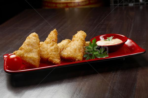 Japanese Tempura salmon. Stock photo © fanfo