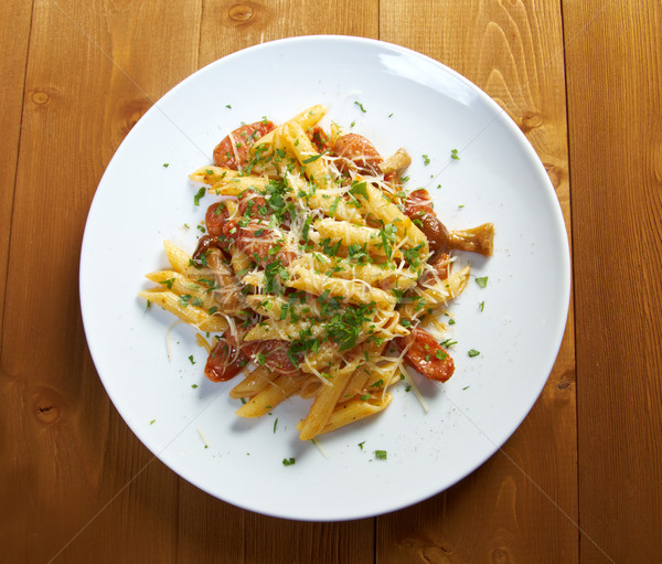 Italian Penne rigate pasta with  Stock photo © fanfo