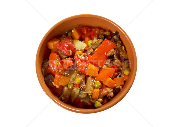 Pays ragoût roumain légumes dîner viande Photo stock © fanfo