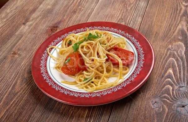 Spaghetti Piccanti al Pomodoro Fresco Stock photo © fanfo