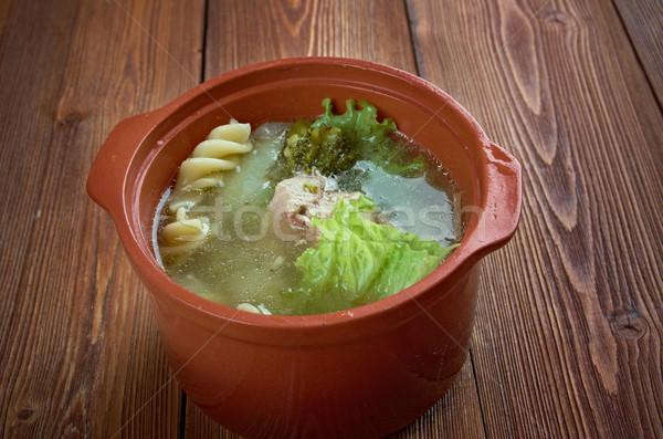 Foto stock: Italiano · invierno · sopa · pasta · brócoli · carne