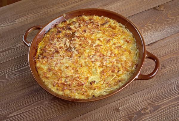 Французская кухня цуккини сыра продовольствие завтрак растительное Сток-фото © fanfo