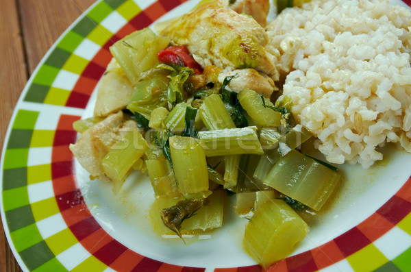 Zeller pörkölt iráni edény zöldség étel Stock fotó © fanfo