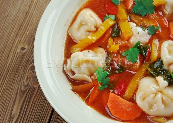 Tortellini leves olasz tél ravioli vacsora Stock fotó © fanfo