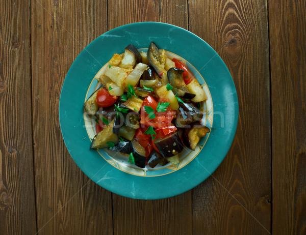 Tradicional italiano plato alimentos verde tomate Foto stock © fanfo