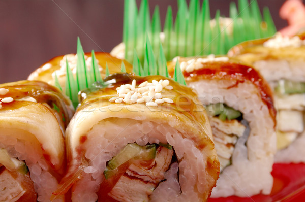sushi with eel Stock photo © fanfo