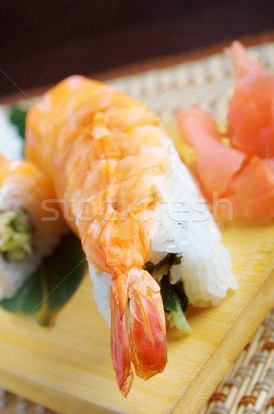 Stock fotó: Japán · szusi · hagyományos · füstölt · hal · tenger