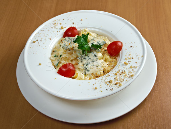 Pasta fettuccine with gourmet cheese Stock photo © fanfo