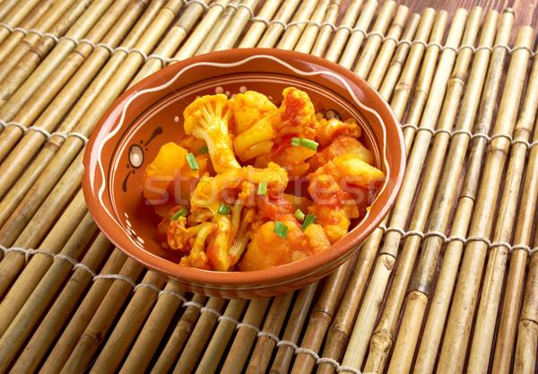Száraz pakisztáni indiai konyha edény zöldség Stock fotó © fanfo