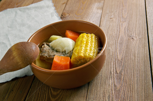 Popularny naczyń Wenezuela zupa żywności tabeli Zdjęcia stock © fanfo