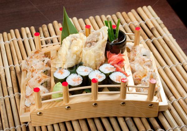 Foto stock: Sushi · comida · japonesa · tradicional · japonês · fumado · peixe