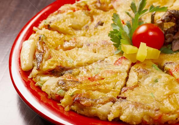 японская еда пиццы сыра обед быстро Сток-фото © fanfo