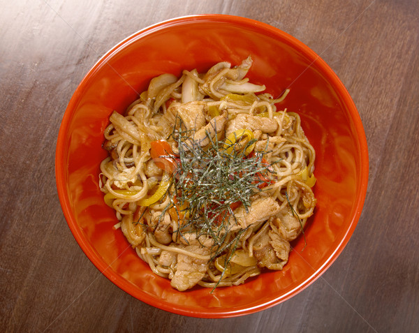 pork  and  soba with vegetable Stock photo © fanfo