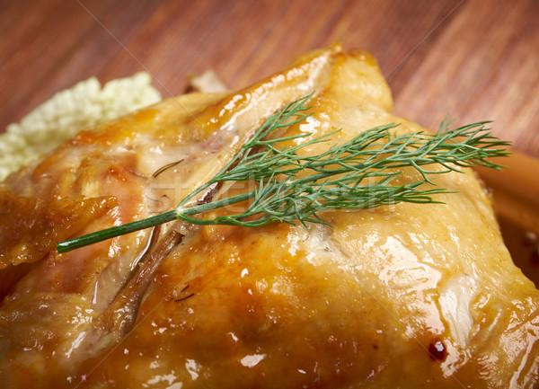 Pollo alla diavola Stock photo © fanfo