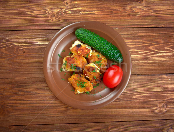Pecado pollo alimentos país almuerzo rápido Foto stock © fanfo