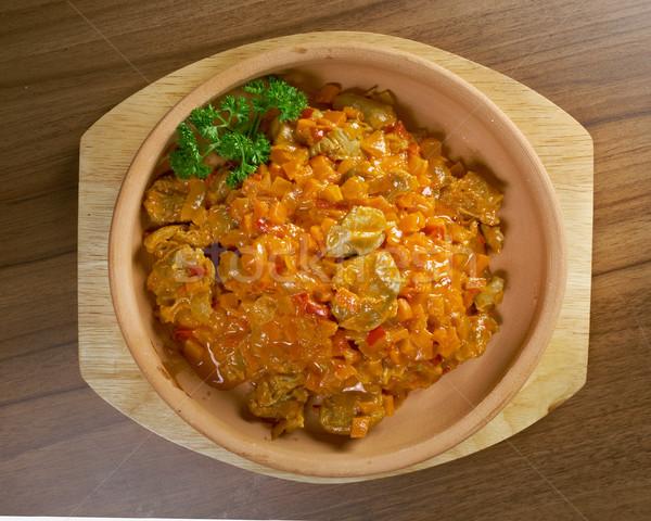 野菜 シチュー 鶏 食品 ディナー プレート ストックフォト © fanfo