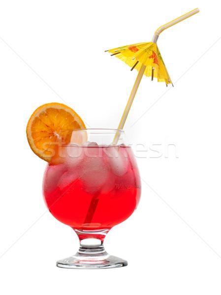 Piros ital jég izolált fehér szemüveg Stock fotó © fanfo