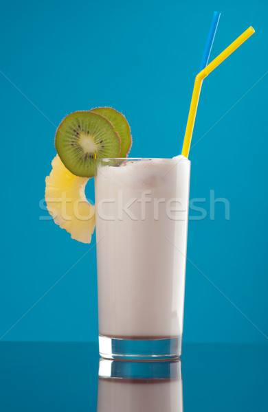 Milk shake  with chocolate and fruit Stock photo © fanfo