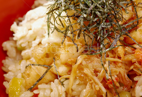 fried rice tyahan with seafood Stock photo © fanfo