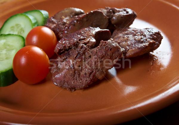 Pollo piatto vegetali pasto nessuno Foto d'archivio © fanfo