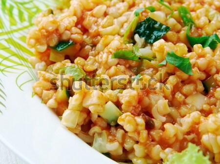 Sebzeli Bulgur Pilavı Stock photo © fanfo