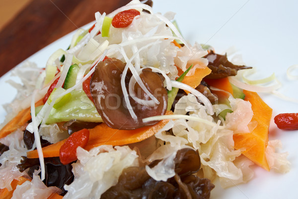 Foto stock: Chinês · alga · salada · asiático · japonês